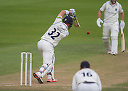 Laurie Evans (Warwickshire County Cricket Club) in action during the LV County Championship Div 1 match between Durham County Cricket Club and Warwickshire County Cricket Club at the Emirates Durham ICG Ground, Chester-le-Street, United Kingdom on 15 July 2015. Photo by George Ledger.