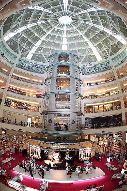 Suria Kuala Lumpur with a fish-eye lens.