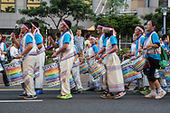 A school drumming group at the Dream Parade. The Dream Parade is an annual arts carnival and street parade that takes place in Taipei. The event is the brainchild of real estate developer Gordon Tsai who founded the Dream Community after being inspired by simialr events in other parts of the world.