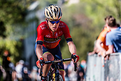 Rider of Bahrain Merida Pro Cycling Team during the last climb at Mur de Huy of the 2018 La Flèche Wallonne race, Huy, Belgium, 18 April 2018, Photo by Pim Nijland / PelotonPhotos.com | All photos usage must carry mandatory copyright credit (Peloton Photos | Pim Nijland)