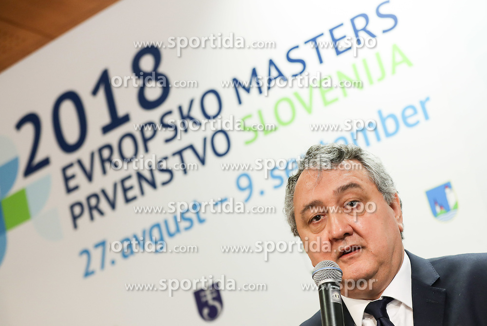 Paolo Barelli, President of LEN - Ligue Européenne de Natation during press conference of LEN European Masters Championships 2018, on April 4, 2016 in Kranj, Slovenia. Photo by Vid Ponikvar / Sportida