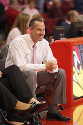 10 February 2013:  Jim Flannery  during an NCAA women's basketball game where the Creighton Bluejays lost to the Illinois Sate Redbirds 66-60 at Redbird Arena in Normal IL
