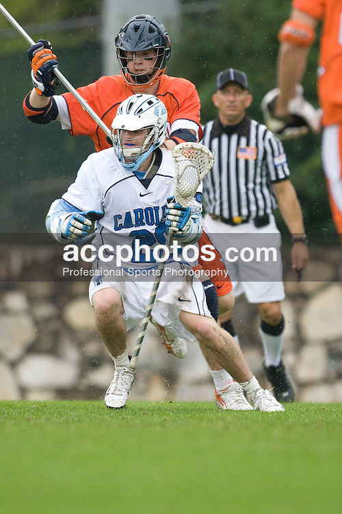 05 April 2008: North Carolina Tar Heels attackman Michael B. Burns (29) during a 11-12 OT loss to the Virginia Cavaliers on Fetzer Field in Chapel Hill, NC.