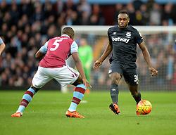 Michail Antonio of West Ham United - Mandatory byline: Alex James/JMP - 07966 386802 - 26/12/2015 - FOOTBALL - Villa Park - Birmingham, England - Aston Villa v West Ham United - Barclays Premier League