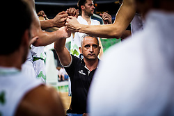 Slovenian head coach Igor Kokoskov during qualifying match between Slovenia and Kosovo for European basketball championship 2017,  Arena Stozice, Ljubljana on 31th August, Slovenia. Photo by Grega Valancic / Sportida