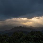 Sun rays in Kaeng Krachan national park, Thailand