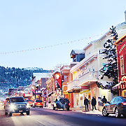 Historic Main Street in Park City, Utah plays host to movie fans during the annual Sundance Film Festival. Photographed January 28, 2010.