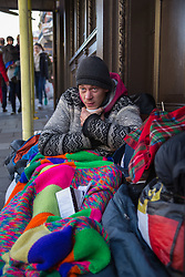 "Macieck, 29, from Poland has lived in a shop doorway on High Street opposite  Windsor Castle for monthsAfter a public outcry against their ""homelessness support strategy"" where rough sleepers would have been fined £100, Windsor council has shelved their plans. Windsor, Berkshire, February 16 2018."
