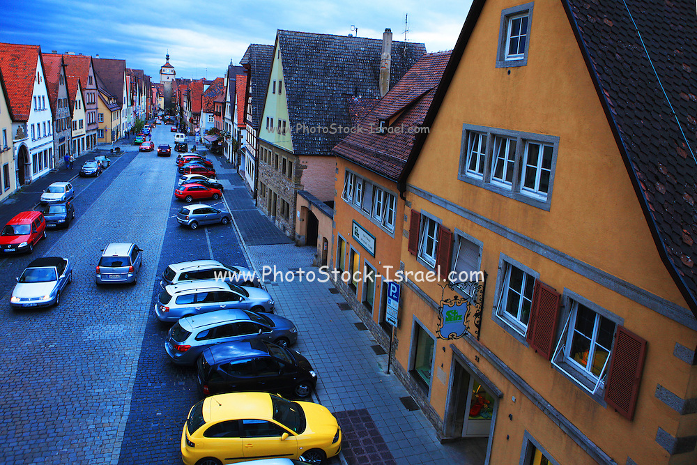 Germany, Bavaria, Rothenburg ob der Tauber The Medieval old town