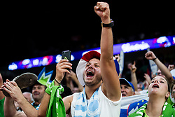 Supporters of Slovenia celebrate after winning during the Final basketball match between National Teams  Slovenia and Serbia at Day 18 of the FIBA EuroBasket 2017 at Sinan Erdem Dome in Istanbul, Turkey on September 17, 2017. Photo by Vid Ponikvar / Sportida