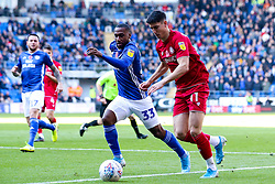 Callum O'Dowda of Bristol City takes on Junior Hoilett of Cardiff City - Mandatory by-line: Robbie Stephenson/JMP - 10/11/2019 -  FOOTBALL - Cardiff City Stadium - Cardiff, Wales -  Cardiff City v Bristol City - Sky Bet Championship