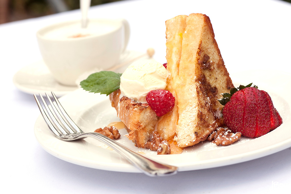 Stuffed french toast dessert at Brasserie 73 Bistro and Wine Bar photographed Saturday, August 7, 2010 in Skippack, Pa. (Photo/Douglas M. Bovitt)