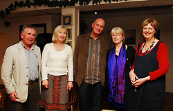 Pictured at the poetry reading by Chris Agee and Geraldine Mitchell at the Creel Resturant part of the Westport Arts Festival were Edward King, Veronica Bolay, Chris Agee, Geraldine Mitchell and Deirdre Walsh...Pic Conor McKeown
