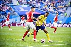 July 3, 2018 - Stockholm St Peterburg, Sweden Russia - FIFA WORLD CUP 2018 Sweden defeated Switzerland 1-0 in St Petersburg, Russia and are ready for the quarter final. VM 2018 i Ryssland. Sverige - Schweiz, 1 - 0, Ã¥ttondelsfinal, match action landslaget. Foto : PETWIX : VM Ryssland 2018 ( Sankt Petersburg ). Sverige-schweiz. 1-0. Viktor Claesson (Credit Image: © WixtrÖM Peter/Aftonbladet/IBL via ZUMA Wire)
