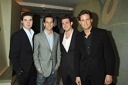 Brit Award nominated band BLAKE (Oliver Baines, Stephen Bowman, Jules Knight and Dominic Tigheat) the launch party for 'The End of Summer Ball' in Berkeley Square held at Nobu Berkeley, 15 Berkeley Street, London on 7th April 2008.<br />