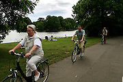 Berlin. cycling in the park south Berlin
