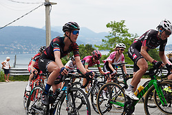 Hannah Barnes (GBR) climbs out of Baveno at Giro Rosa 2018 - Stage 5, a 122.6 km road race starting and finishing in Omegna, Italy on July 10, 2018. Photo by Sean Robinson/velofocus.com