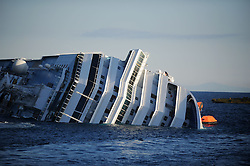 "A life Boat dingy at the Wrecked Cruise Ship ""Costa Concordia"" in Giglio, Italy, Photo By Nick Cornish/ I-Images"