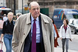 © Licensed to London News Pictures. 30/09/2019. London, UK. MP for Mid Sussex Sir Nicholas Soames arrives at Parliament .  Photo credit: George Cracknell Wright/LNP