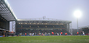 Ewood Park football stadium in the snow during the Sky Bet Championship match between Blackburn Rovers and Brighton and Hove Albion at Ewood Park, Blackburn, England on 16 January 2016.