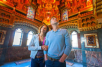 Couple in Arab Room<br /> Cardiff Castle<br /> Interior<br /> South<br /> Castles<br /> Historic Sites