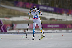 RIPA Helene competing in the Nordic Skiing XC Long Distance at the 2014 Sochi Winter Paralympic Games, Russia