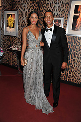 ROCHELLE WISEMAN and MARVIN HUMES at a party hosted by Roberto Cavalli to celebrate his new Boutique's opening at 22 Sloane Street, London followed by a party at Battersea Power Station, London SW8 on 17th September 2011.