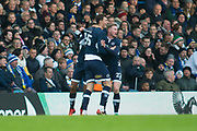 Millwall celebrate Millwall Forward Aiden O'Brien scores a goal 0-1 during the EFL Sky Bet Championship match between Leeds United and Millwall at Elland Road, Leeds, England on 20 January 2018. Photo by Craig Zadoroznyj.
