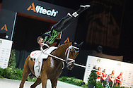 Lukas Heppler, (SUI), Waimar CH, Barbara Zurcher - Individuals Mens Technical Vaulting - Alltech FEI World Equestrian Games™ 2014 - Normandy, France.<br /> © Hippo Foto Team - Jon Stroud<br /> 04/09/2014