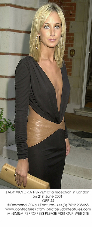 LADY VICTORIA HERVEY at a reception in London on 21st June 2001.<br />