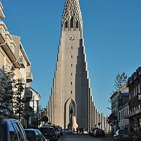 Hallgrimskirkja (1986 Lutheran church) in Reykjavik.
