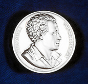 Johann Joachim Winckelmann (1717-68) from the obverse of a commemorative medal. German archaeologist particularly associated with Herculaneum. Pompeii and Paestum .