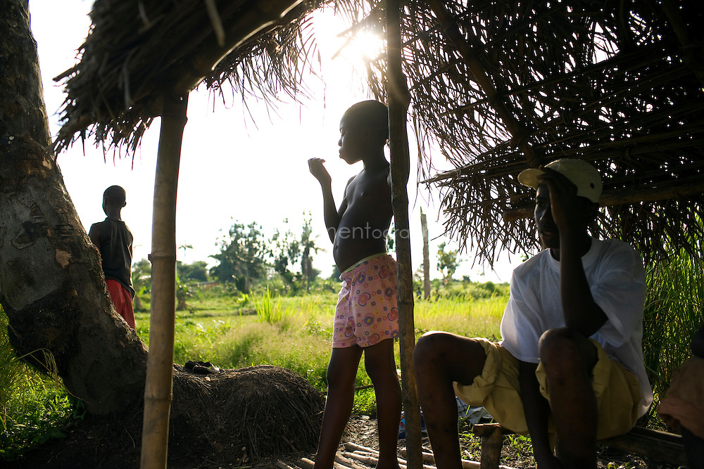 Children looking after the rice fields, Kingsville #7, Liberia.