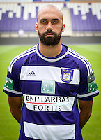 Anderlecht's Anthony Vanden Borre pictured during the 2015-2016 season photo shoot of Belgian first league soccer team RSC Anderlecht, Tuesday 14 July 2015 in Brussels.