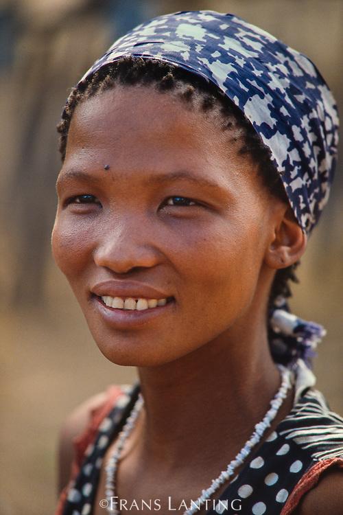 San woman, Tsodilo Hills, Botswana