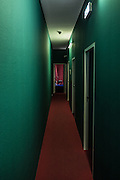 Rotterdam,colored hotel hallway