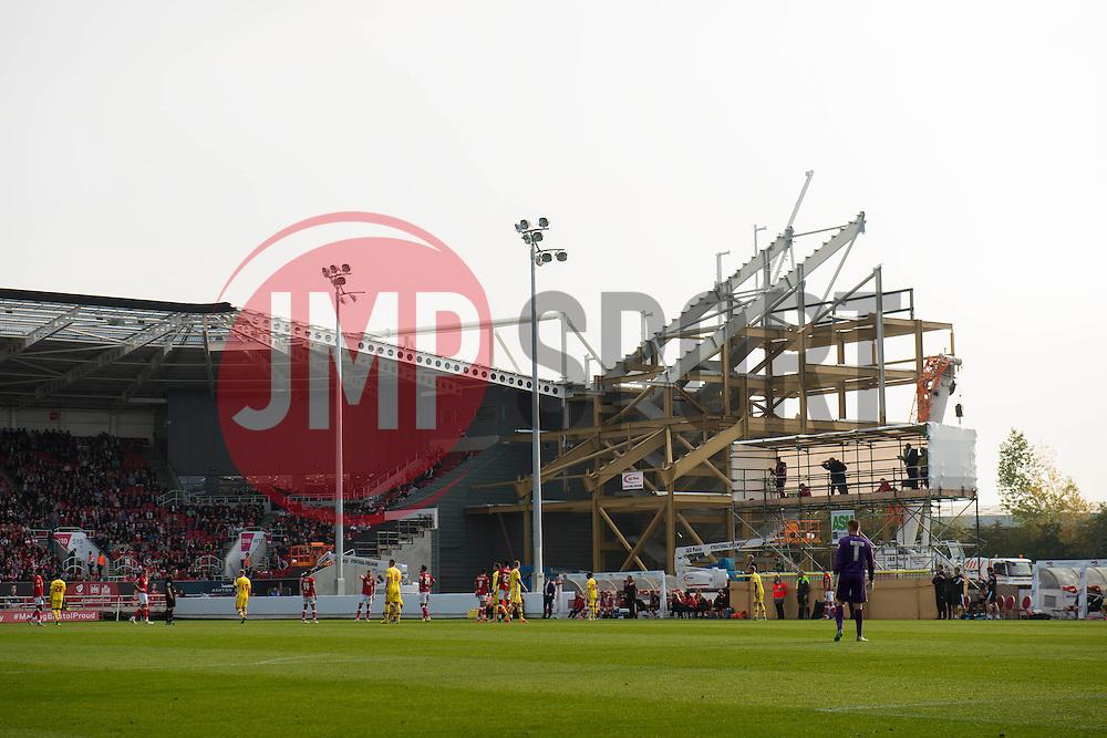 A general view of the new West stand being developed at Ashton Gate Stadium - Mandatory byline: Dougie Allward/JMP - 07966 386802 - 03/10/2015 - FOOTBALL - Ashton Gate - Bristol, England - Bristol City v MK Dons - Sky Bet Championship