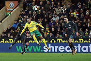 Josh Murphy of Norwich has a shot on goal during the FA Cup match at Carrow Road, Norwich<br /> Picture by Paul Chesterton/Focus Images Ltd +44 7904 640267<br /> 06/01/2018