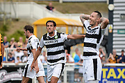 Forest Green Rovers Midfielder, Darren Carter (12) is denied a goal offside during the Vanarama National League match between Maidstone United and Forest Green Rovers at the Gallagher Stadium, Maidstone, United Kingdom on 27 August 2016. Photo by Adam Rivers.