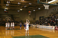 S.S. Seward's Vivien Greiser (13) shoots a free throw after an intentional foul call on Romulus late in Seward's  59-48 victory in a Class D state semifinal game at Hudson Valley Community College in Troy on March 17, 2007.