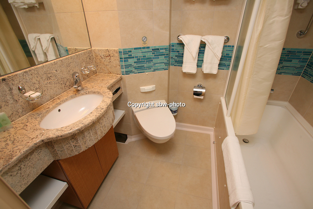 The launch of Royal Caribbean International's Oasis of the Seas, the worlds largest cruise ship..Staterooms.Junior Suite with balcony bathroom