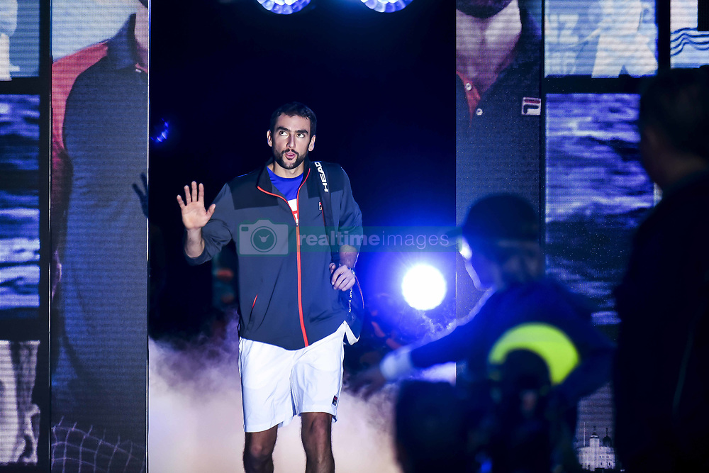 November 14, 2017 - London, United Kingdom - Marin Cilic during the singles match against Jack Sock of The United States on day three of the Nitto ATP World Tour Finals at O2 Arena on November 14, 2017 in London, England. (Credit Image: © Alberto Pezzali/NurPhoto via ZUMA Press)