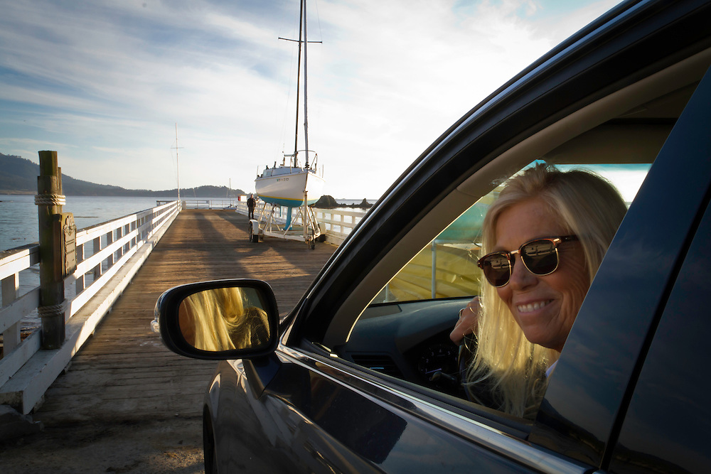 My Aunt Becky picking me up at the pier for Stillwater Cove in Pebble Beach California