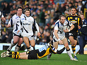 Wycombe, GREAT BRITAIN,  Sharks' David DOHERTY, attacking run is halted by Wasps' Lachlan MITCHELL, during the Guinness Premiership match,  London Wasps vs Sale Sharks at Adam's Park Stadium, Bucks, on Sun 23.11.2008. [Photo, Peter Spurrier/Intersport-images]