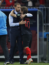 (l-r) coach Gareth Southgate of England, Luka Modric of Croatia during the 2018 FIFA World Cup Russia Semi Final match between Croatia and England at the Luzhniki Stadium on July 01, 2018 in Moscow, Russia