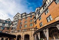 Built in 1882, with a Tudor style exterior, Hotel Roanoke, Roanoke, Virginia USA.