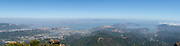 High angle view of Sausalito and the north bay suburbs from Mt. Tamalpais, Marin County, California.