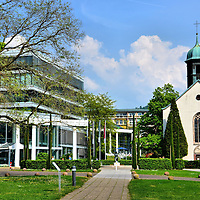 Caracalla Spa and Spitalkirche in Baden-Baden, Germany<br />