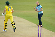 during the Royal London Women's One Day International match between England Women Cricket and Australia at the Fischer County Ground, Grace Road, Leicester, United Kingdom on 2 July 2019.