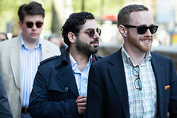 "© Licensed to London News Pictures . 06/05/2018. London, UK. RAHEEM KASSAM (c) . Supporters of alt-right and anti-Islam groups, including Generation Identity and the Democratic Football Lads Alliance, demonstrate at Whitehall in Westminster, opposed by anti-fascists. Speakers billed in the ""Day for Freedom"" include former EDL leader Tommy Robinson, Milo Yiannopoulos, youtuber Count Dankula (Markus Meechan), For Britain leader Anne Marie Waters, UKIP leader Gerard Batten, Breitbart's Raheem Kassam and Lauren Southern. The event was originally planned as a march to Twitter's HQ in protest at their banning of Robinson and the Home Office's ban on Martin Sellner and Brittany Pettibone entering the UK, in what protesters describe as limits being imposed on free speech. Photo credit: Joel Goodman/LNP"